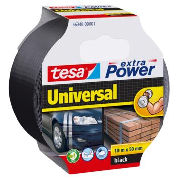 Tesa Extra power reparatietape 50 mm 10 meter zwart