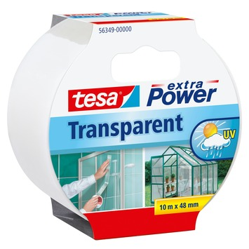 Tesa ExtraPower klustape 48 mm 10 meter transparant