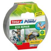 Tesa Extra power reparatietape eco universeel 38 mm 20 meter grijs