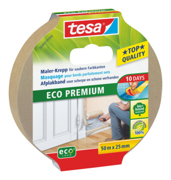 Tesa afplaktape eco premium 25 mm 50 meter beige