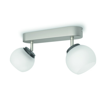 Philips duobalk Balla LED 2X4W nikkel
