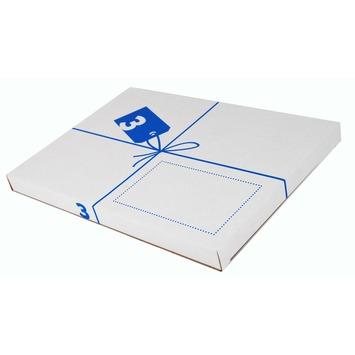 Postverzenddoos 3 karton wit 25,6x2,4x36,3 cm brievenbusdoos
