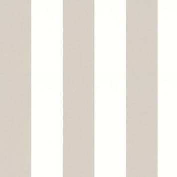 Vliesbehang Lynn strepen taupe-gebroken wit 33-185