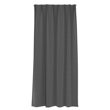 GAMMA kant en klaar gordijn plooiband lichtdoorlatend 1152 zwart 140x280 cm