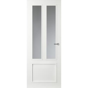 Binnendeur Met Glas.Gamma Binnendeur Gm01 Opdek Met Blank Glas Rechtsdraaiend 93x201 5