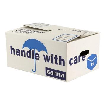 GAMMA verhuisdoos Compact karton wit 48x32x22 cm 5 stuks
