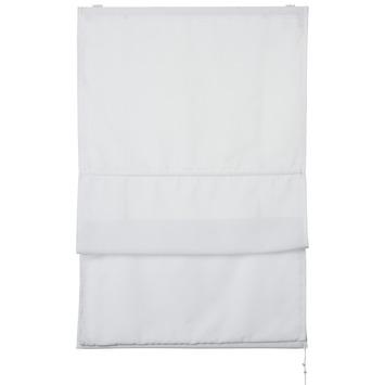 OK vouwgordijn lichtdoorlatend wit 90x175 cm
