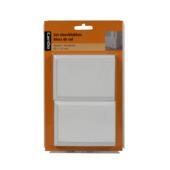CanDo Square Residence vloerblok MDF wit gegrond 8,5x11,5 cm 2 stuks