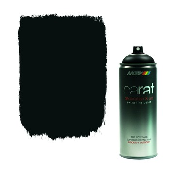 Carat spuitlak traffic black mat 400 ml