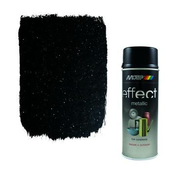 Motip spuitlak metallic zwart 400 ml
