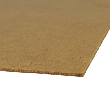 Hardboard plaat naturel 122x61 cm 3,2 mm