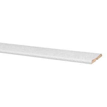 Agnes vouwhoek MDF wit stuc 24x24 mm 260 cm