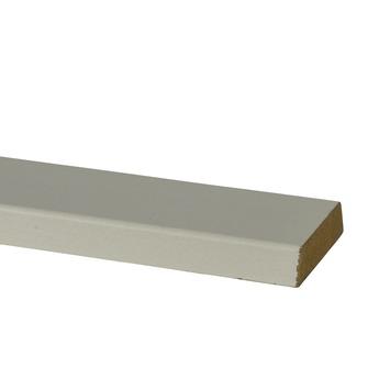 Koplat MDF wit gegrond 12x43 mm 220 cm