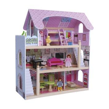 Gamma houten poppenhuis 21 delig kopen houten speelgoed for Poppenhuis te koop