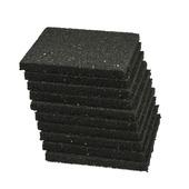 Aquaplan tegeldrager rubber zwart 10x10 cm 10 stuks