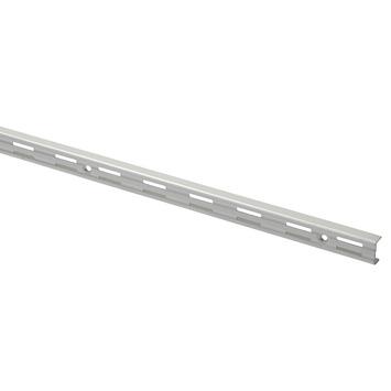 Handson rail dubbel mat zilver 200 cm (2 stuks)