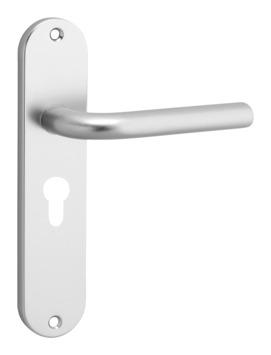 OK deurkrukset ovaal aluminium kortschild cilindergat 55 mm