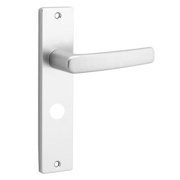 OK deurkrukset  Blok kortschild aluminium WC-uitvoering 63/8 mm