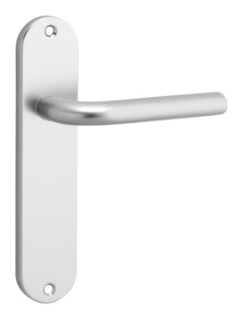 OK deurkrukset kortschild blind ovaal aluminium
