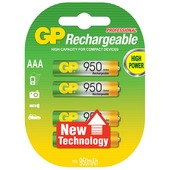 GP oplaadbare batterij penlite AAA 4 stuks
