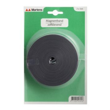 Martens magneetband zelfklevend grijs 5 meter 2 stuks