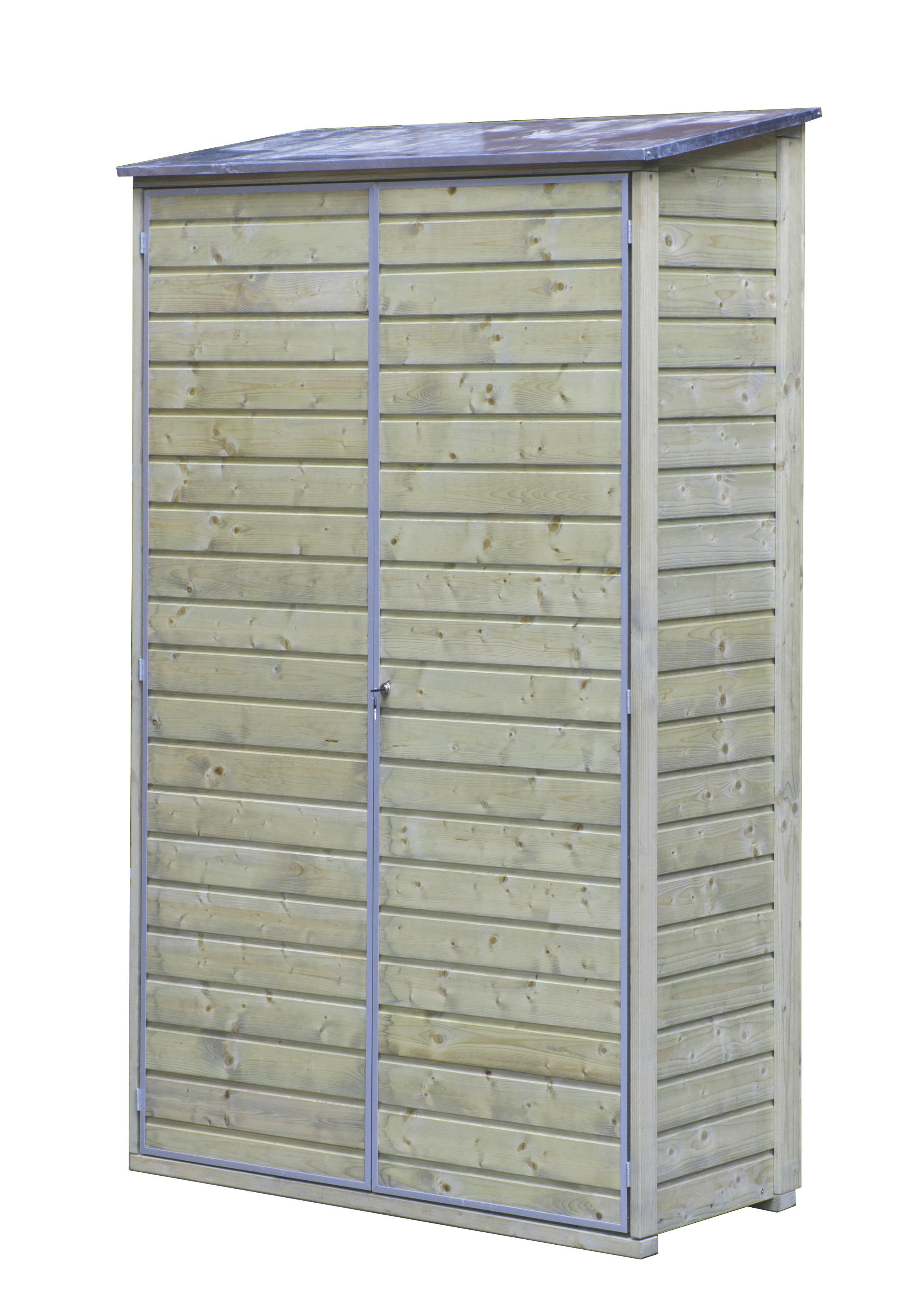 Tuinkast hout met zinken dak 200x120x60 cm