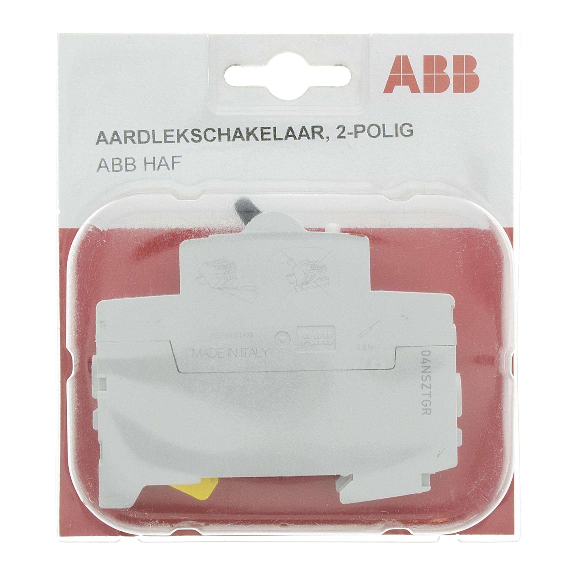 ABB HAF aardlekschakelaar 2-polig 40A in blister
