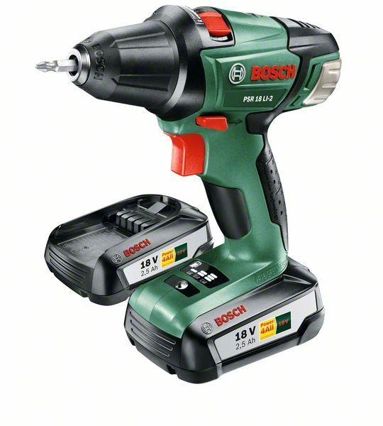 Bosch PSR 18 LI-2 2 accu's 2,5 Ah