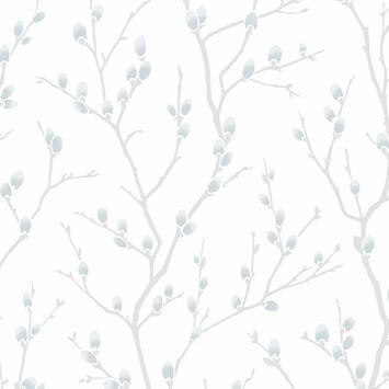 Vliesbehang Karma wit-blauw 33-280
