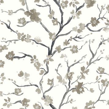Vliesbehang Ushi taupe-grijs 2256-21