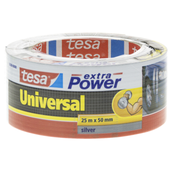 Tesa ducttape 50 mm 25 meter extra power zilver