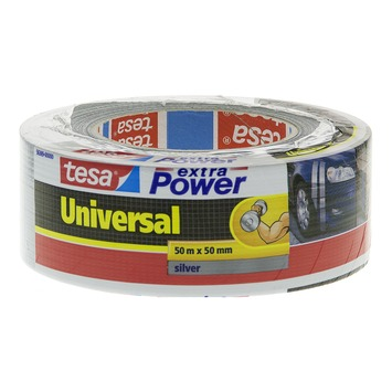 Tesa ducttape 50 mm 50 meter extra power zilver