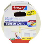 Tesa Premium Classic afplaktape 30 mm 50 meter geel