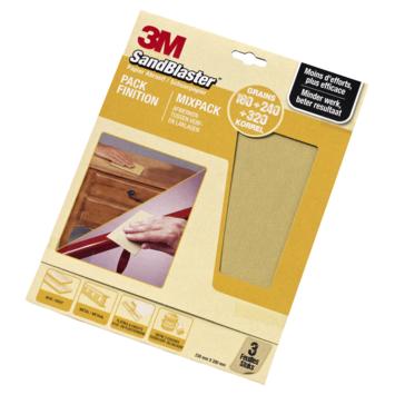 3M Sandblaster schuurpapier P320/P240/P180 3 stuks
