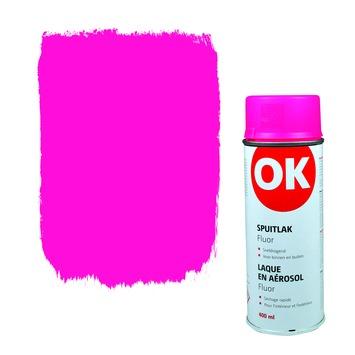 OK spuitlak roze fluor 400 ml