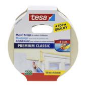 Tesa Premium Classic afplaktape 50 mm 50 meter geel