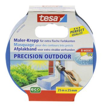 Tesa Precision Outdoor afplaktape 25x25 mm blauw