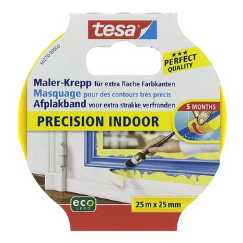 Tesa Precision afplaktape indoor 25 mm 25 meter geel