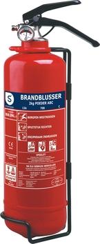 Smartwares Brandblusser BB2.4 2 kg Poeder Brandklasse ABC Inclusief Ophangbeugel