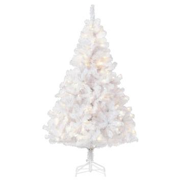 kunstkerstboom stavanger met verlichting wit led 180 cm