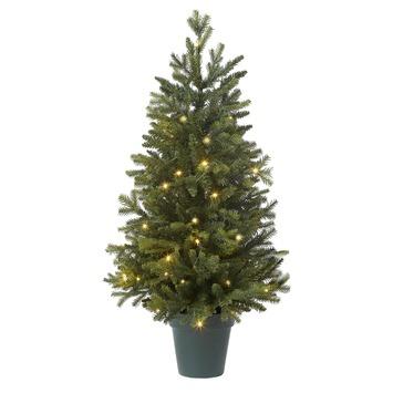 kunstkerstboom kopenhagen met verlichting 110 cm