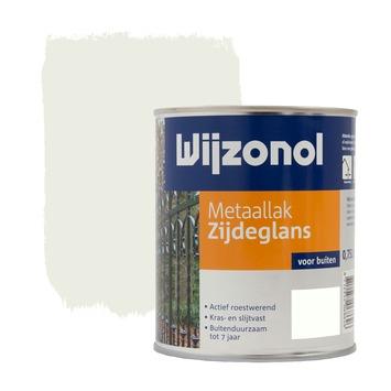 Wijzonol metaallak ral 9010 zijdeglans 750 ml