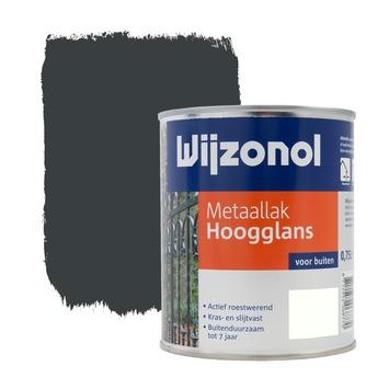 Wijzonol metaallak antraciet hoogglans 750 ml