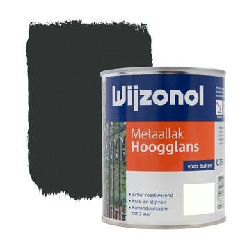 Wijzonol metaallak zwart hoogglans 750 ml