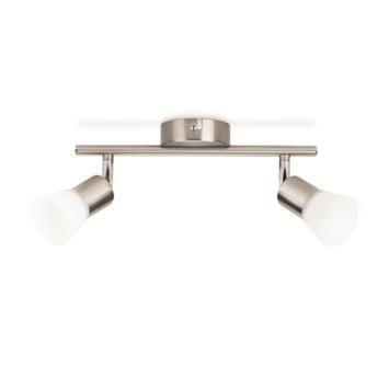 Philips spotbalk Decagon 4,3W 2-lichts nikkel