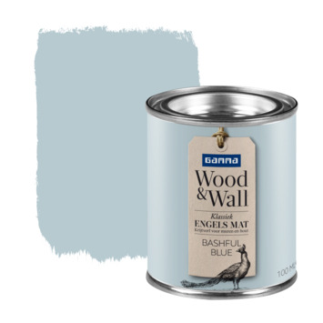 GAMMA Wood&Wall krijtverf kleurtester Bashful Blue 100 ml