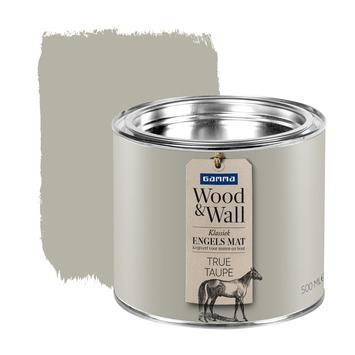 gamma gamma woodampwall krijtverf true taupe 500 ml kopen