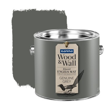 GAMMA Wood&Wall krijtverf Genuine Grey 2,5 liter
