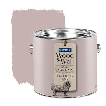 gamma gamma woodampwall krijtverf precious pink 25 liter