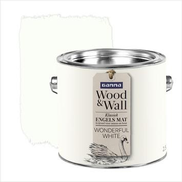 GAMMA Wood&Wall krijtverf Wonderful White 2,5 liter